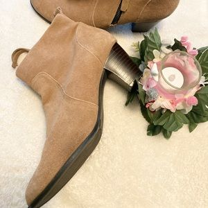 Sam & Libby suede booties size 8.5